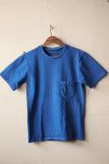 Mixta (�ߥ�����) Crew Neck Pocket T-Shirt, Denim Blue-1