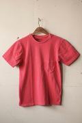 Mixta (�ߥ�����) Crew Neck Pocket T-Shirt, Sunset Red-1