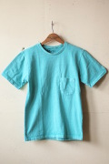 Mixta (ミクスタ) Crew Neck Pocket T-Shirt, Turquoise-1