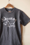 Mixta (ミクスタ) Printed Tee Dog Eat Dog Vintage Black-1