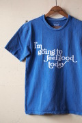 Mixta (ミクスタ) Printed T-Shirt Feel Good Denim Blue-1