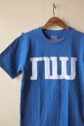 Mixta (ミクスタ) Printed Tee NW Denim Blue-1