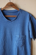 Mixta V-Neck Pocket T-Shirt, Denim Blue-1