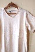 Mixta V-Neck Pocket T-Shirt, Natural-1