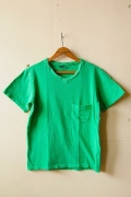 Mixta (ミクスタ) V Neck T-Shirt, Green-1