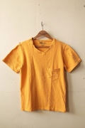 Mixta (ミクスタ) V Neck T-Shirt, Yellow-1
