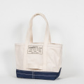 Tool Bag 2-tone M Long, Ecru-Navy