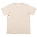 V-Neck Pocket Tee Oatmeal