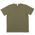 V-Neck Pocket Tee Olive