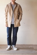WORKERS 70/30 cloth Mountain Shirt Parka, Beige-1