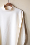 WORKERS AB Plain Mock Neck L/S Tee White-1