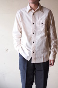 WORKERS Anchor Shirt Ecru Chambray-1