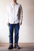 WORKERS Big Work Shirt White Chambray-1