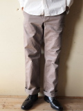 WORKERS Buckle Back Trousers, Gray-1