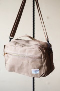 WORKERS Canvas Shoulder Bag Beige-1