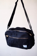 WORKERS Canvas Shoulder Bag, Black-1