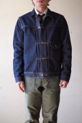 WORKERS Cowboy JKT 13.75oz Left Hand Weave Raw Denim-1