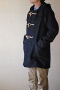 WORKERS Duffle Coat Wool Cashmere Melton, Black-Top1