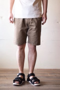 WORKERS EZ Shorts Cotton×Linen Karsey Beige-1