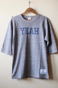 WORKERS Football Tee YEAH, Grey-1