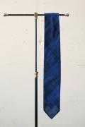 WORKERS K&T H Hand Tailored Tie, Dark Madras-1