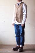 WORKERS Hunting Vest 7oz High Count Twill Beige-1