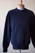 WORKERS Law Gauge Cotton Knit Sweater Navy-1