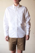 WORKERS Lt. BD Shirt GIZA Broadcloth White-1