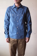 WORKERS MFG Work Shirt Blue Chambray-1
