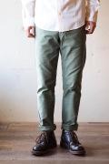 WORKERS MIL Trousers Slim Fit Reversed Sateen OD-1