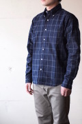 WORKERS Modified BD Shirt Navy Check-1