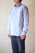 WORKERS Modified BD Shirt Supima Cotton Blue OX-1