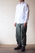 WORKERS Modified BD Shirt White OX-1