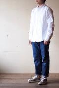 WORKERS Narrow Collar Shirt White OX-1