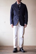 WORKERS Navy Blazer Supima Karsey Knit Twill-1