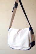 WORKERS Newspaper Bag, White/Blue-1
