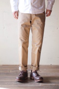 Workers Officer Trousers Slim Type1 Beige-1