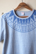 WORKERS Printed Tee Snowflake Blue-1