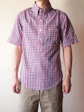 WORKERS S/S Pull Over BD Shirt, Red Check