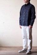 WORKERS Relaxed Fit BD Shirt Black Check-1