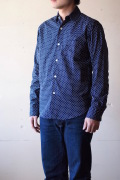 WORKERS Round Collar Shirt Polka Dot-1