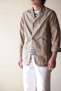 WORKERS Sack Coat Supima Cotton Poplin Beige-1
