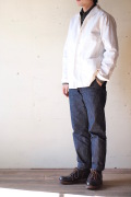 WORKERS Shawl Collar JKT 8oz Chambray White-1