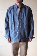 WORKERS Shawl Collar JKT 8oz Indigo Chambray Blue-1