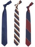 Silk Repp Tie Nvy Brn Bur