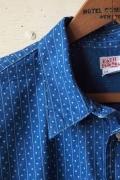 WORKERS S/S Indigo Shirt Star & Stripes-Main