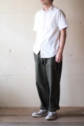 WORKERS S/S Work Shirt, White Chambray-1