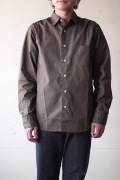 WORKERS Standard Shirt Broadcloth Brown-1