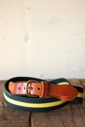 WORKERS K&T H Surcingle Belt, Yellow-Green 1