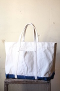 WORKERS Tool Tote, Ecru×Blue-1